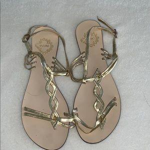 Ecote Gold Grecian Sandals